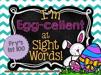 """I'm """"Egg-cellent"""" at SIght Words BUNDLE {Easter Egg Sight Word Hunt}"""
