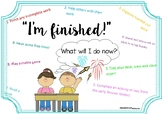I'm Finished! Early Finisher Poster