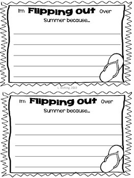 I'm Flipping Out Over Summer! Writing and Craftivity FREEBIE