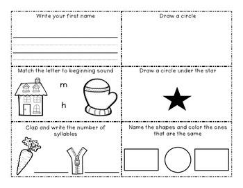 I'm Getting Ready for Kindergarten Summer Homework