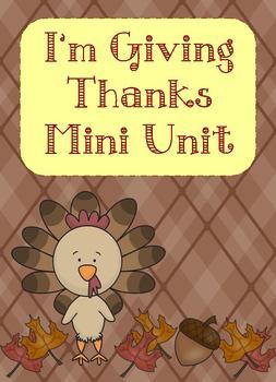I'm Giving Thanks Mini Unit