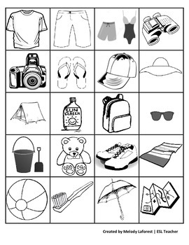 I'm Going on Vacation, I Bring...: A Memory & Vocabulary Game