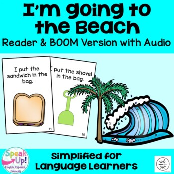 I'm Going to the Beach Emergent Reader Book {Young Readers, ESL, EFL}
