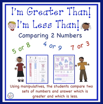 I Am Greater Than and  I Am Less Than Workbook