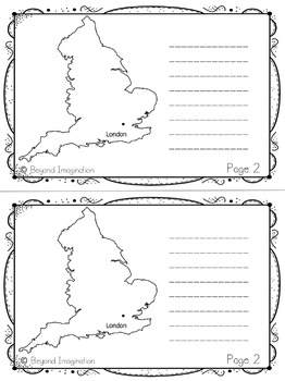 England Country Study | 48 Pages for Differentiated Learning + Bonus Pages