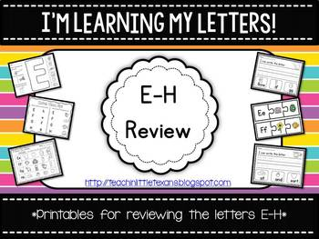 I'm Learning My Letters! {E-H Review Packet}