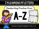 I'm Learning My Letters! {Handwriting Practice from A-Z}