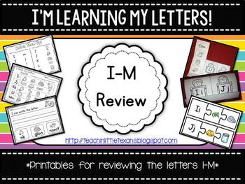 I'm Learning My Letters! {I-M Review Packet}