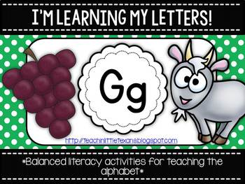 I'm Learning My Letters! {Unit G}