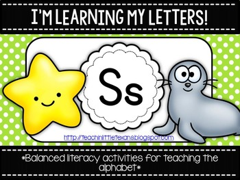 I'm Learning My Letters! {Unit S}