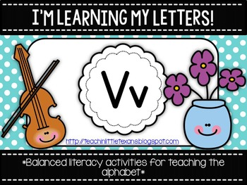 I'm Learning My Letters! {Unit V}
