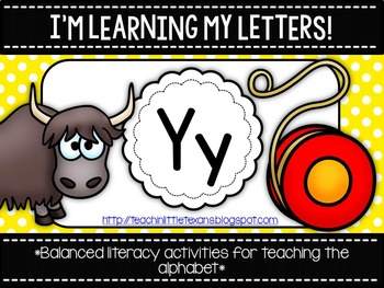 I'm Learning My Letters! {Unit Y}