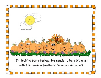 I'm Looking for a Turkey- Thanksgiving Mini-Book