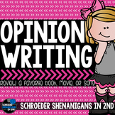 Opinion Writing graphic organizer and writing paper