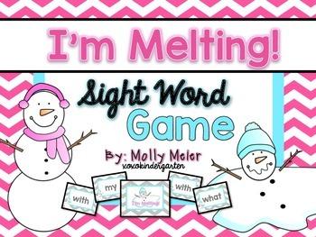 I'm Melting! Kindergarten Sight Word Game