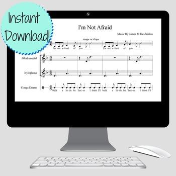 I'm Not Afraid: Free Sheet Music