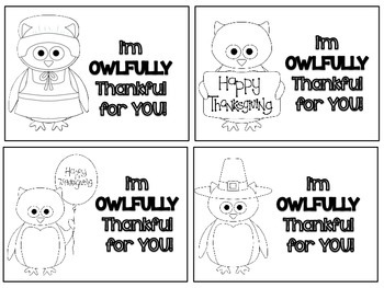 I'm OWLFULLY Thankful For You! Gift Tags FREEBIE