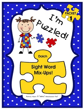 I'm Puzzled! – Packet 1 (sight words with similar spelling