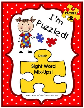 I'm Puzzled! – Packet 2 (sight words with similar spellings/sounds)