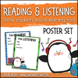 I'm Reading AND Listening - Posters to share Books and Music