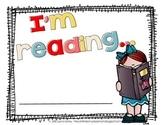I'm Reading… Book Promotion Posters in Teacher Door Sign /