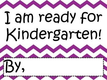 I'm Ready for Kindergarten