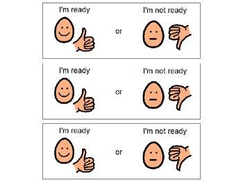 I'm Ready or I'm Not Ready - Visual Choice Cards
