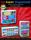 I'm Super Organized! {Superhero Edition - Teacher Toolbox and More!}
