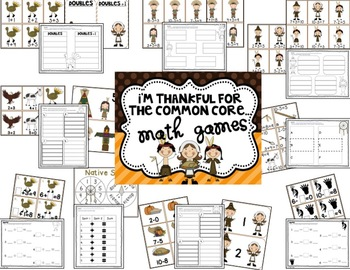 I'm Thankful For... Common Core Math & Lit BUNDLE