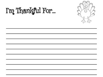 I'm Thankful For: Thanksgiving paragraph activity with graphic organizers