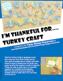 I'm Thankful For…. Turkey Craft with Pop-Up Speech Bubble