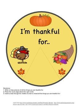 I'm Thankful For.... Wheel