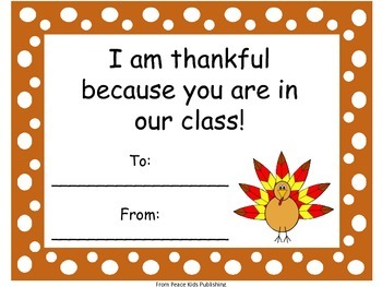 I'm Thankful for You!Certificates for Kids