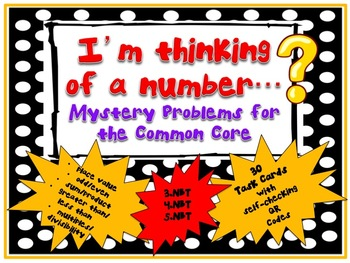 QR - I'm Thinking of a Number...Mystery Problems for the Common Core