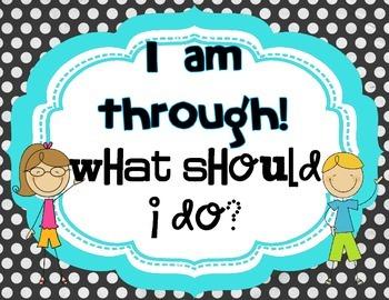 I'm Through What Do I Do? Sign