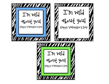 I'm Wild About You Valentine's Day Card