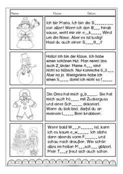 Im Winter - Lesen für Kinder / Deutsch lernen, German reading activities