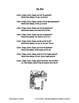 "German Musical Chant About the Conversational Past + ""war""- Im Zoo"