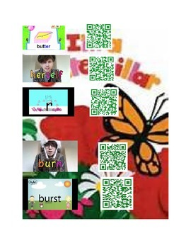 I'm a Caterpillar Concepts with QR Codes