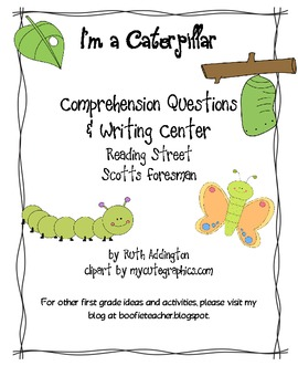 I'm a Caterpillar Writing Station and Comprehension Questions