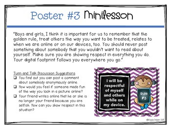 I'm a Digital Citizen! Digital Citizenship Poster Pack with Minilessons
