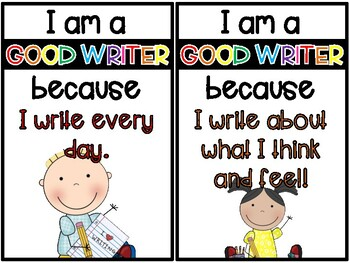 """I'm a GOOD WRITER because..."" Poster Set"