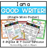 """""""I'm a GOOD WRITER because..."""" Single Poster"""