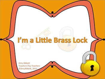 """I'm a Little Brass Lock: a Song Solo Singing and for teaching """"la"""""""