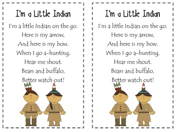 I'm a Little Indian Poetry Pack