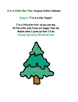 I'm a Little Pine Tree