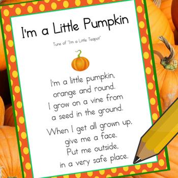 I'm a Little Pumpkin (Poem Copy Work)