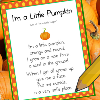 I'm a Little Pumpkin (Poem Copy Work)