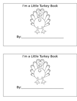 I'm a Little Turkey Book
