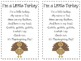 I'm a Little Turkey Poetry Pack